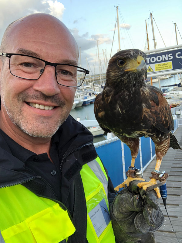 andy crowle professional falconer